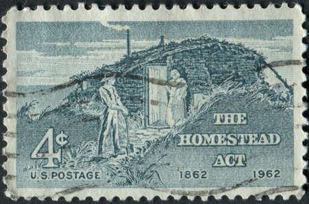アメリカ合衆国-年頃 1962 A ホームステッド法 100 周年記念切手