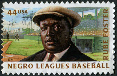 United States of America-Circa 2010 A stamp issued to honor former Negro League Baseball player Rube Foster