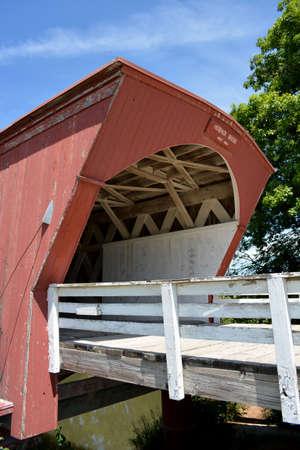 is covered: Hogback Covered Bridge-Winterset, Iowa