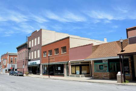iowa: Downtown Creston Iowa