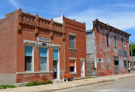 main street: Abandoned Main Street of Bridgewater, Iowa Editorial