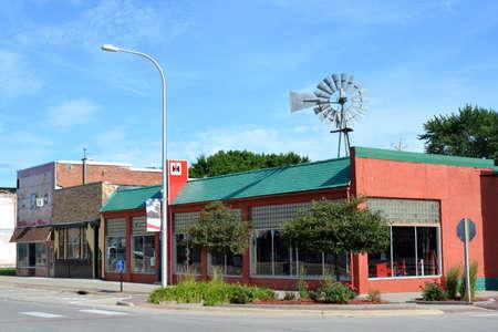 iowa: Downtown Griswold Iowa Editorial