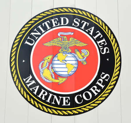 Estados Unidos Emblema del cuerpo de marina Editorial