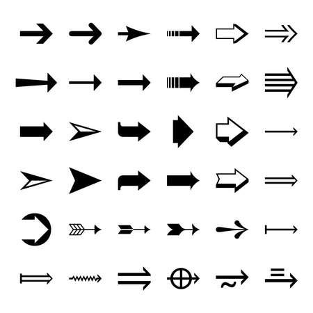 arrow icon set. arrow icon collection Vettoriali