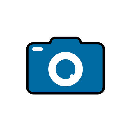 Camera icon vector. Camera icon isolated on white background