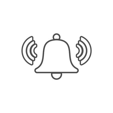 bell icon vector. bell icon isolated on white background