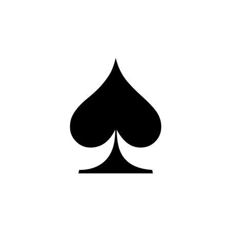 Spade Icon of playing card icon on white background. flat style. Spade icon