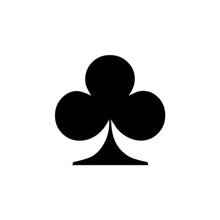 Club Icon of playing card icon on white background. flat style. Club icon