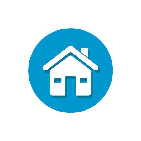 house icon, home icon. house icon isolated on white background Ilustracja