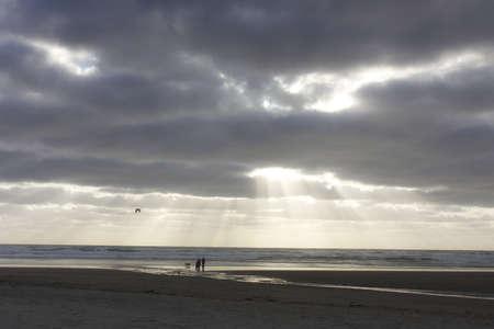 Sunbeams at Cannon Beach photo
