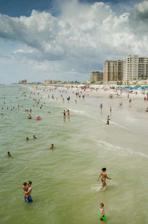 pinellas: Swimmers at Clearwater Beach, Florida