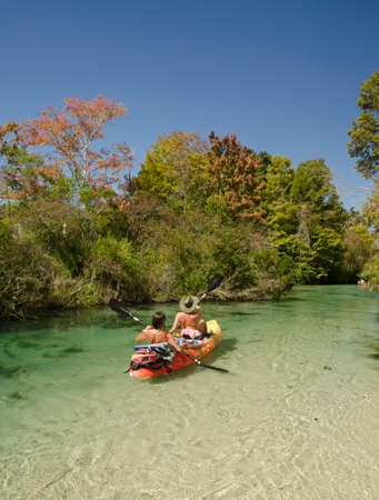 Tandem: Tandem Kayakers on the Weeki Wachee River, Florida