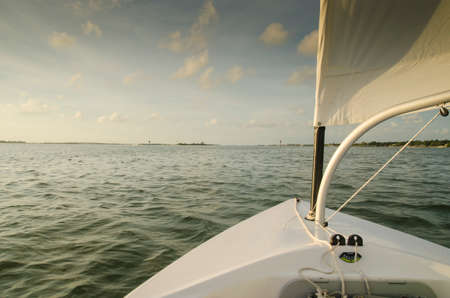 st  joseph: Sunset sailing  at St Joseph Sound, Dunedin Florida Stock Photo