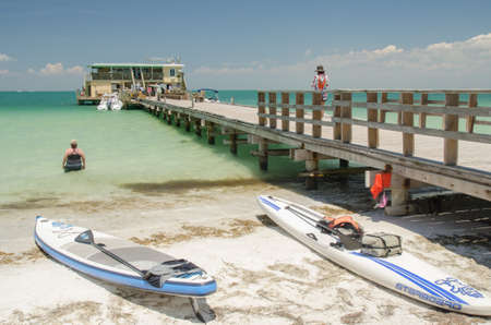 starboard: Paddle boards at Rod and Reel Pier, Anna Maria Island Florida