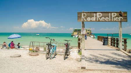 beach cruiser: Rod and Reel Pier Anna Maria Island, Florida