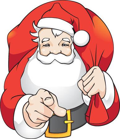 Santa say:  Illustration
