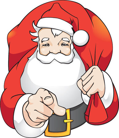Santa say:  Illustration