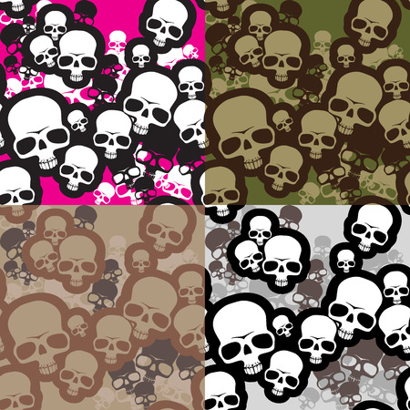 Skulls camo pattern Illustration