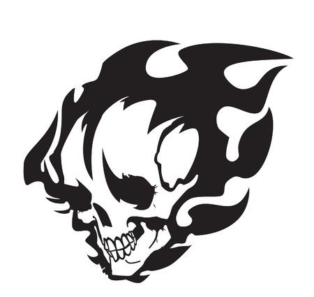 Burning skull Stock Vector - 6246956
