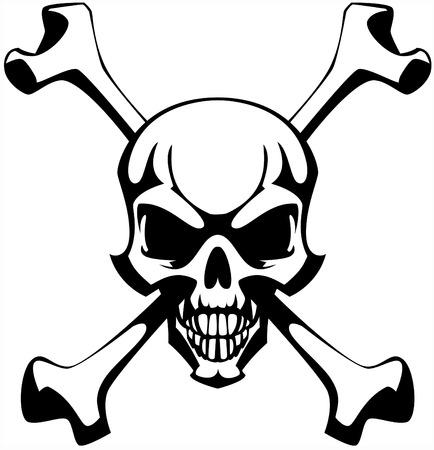 Skull and bones.