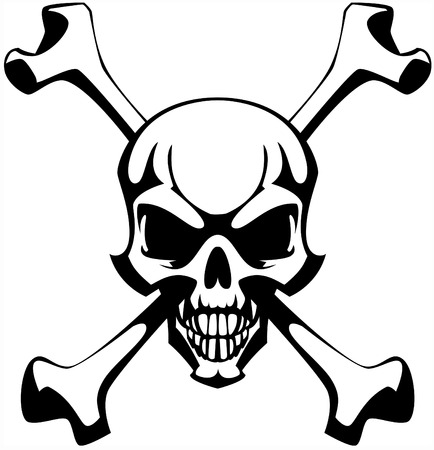 deaths head: Skull and bones.