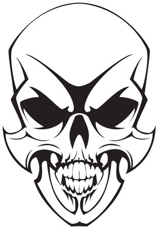 tatto skulll Stock Vector - 6246949