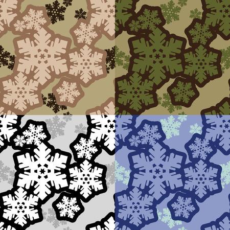 Snowflake camo pattern