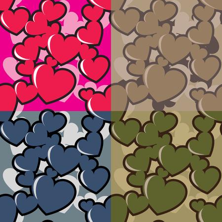 Hearts camo pattern