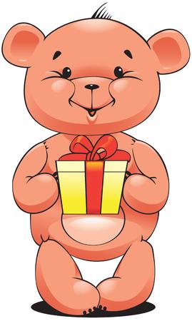 Teddy bear on white background