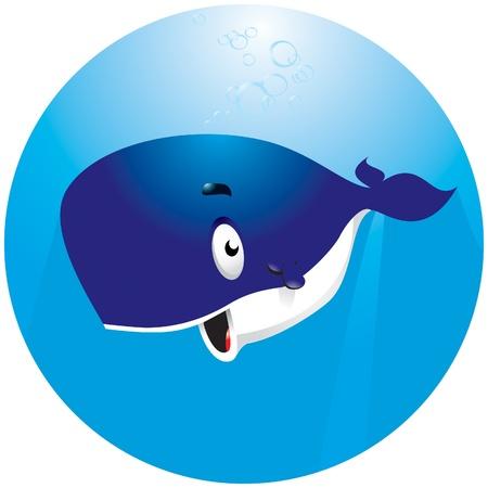 Caricatura sonriente??? ballenas bajo el agua Foto de archivo - 10058925