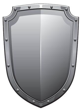 Strong steel shield.