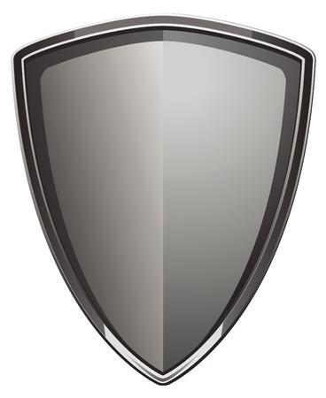 Polished shield made of metal.