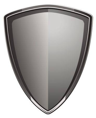 Polished shield made of metal Illustration