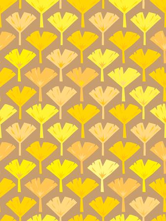 gingko: Gingko nut vector seamless pattern