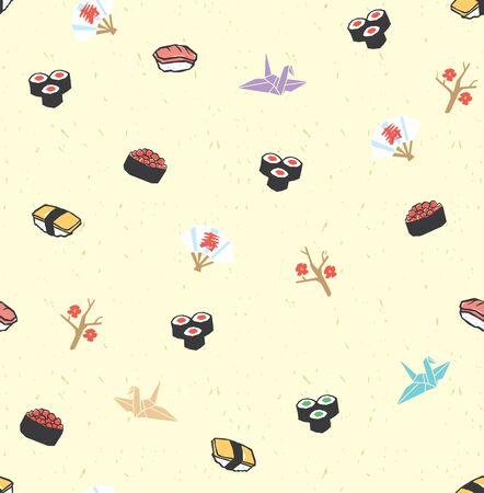 寿司シームレス パターン ベクトル  イラスト・ベクター素材