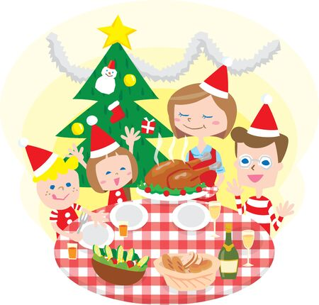 family holiday: family Christmas
