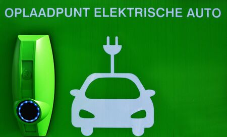 Charge point for electric cars.