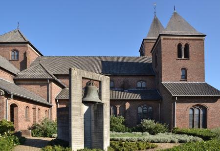 St. Petrus- en Paulus church in Arcen, The Netherlands. Stock Photo