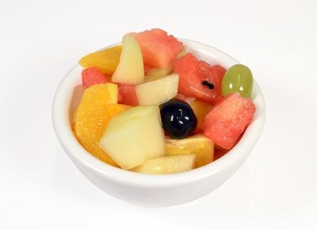 Fruitsalade op witte Achtergrond