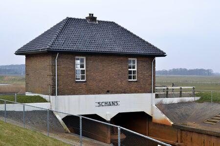 Gemaal Oude Schans in Oudeschild, Nederland Stockfoto