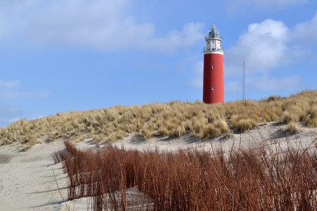texel: Lighthouse on island Texel in the Netherlands  Stock Photo