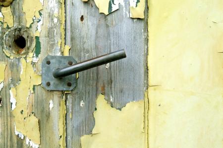 leidschendam: Old door of a shed in the organic vegetable garden Groentenhof in Leidschendam, Netherlands  Stock Photo