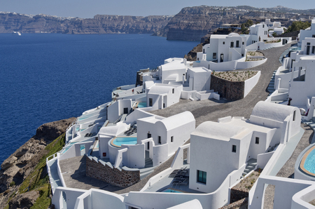 Apartment in Akrotiri on the island of Santorini in Greece  photo