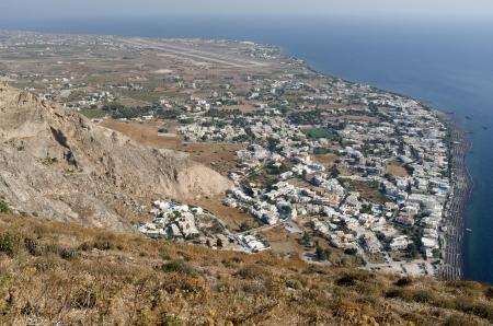 View of Kamari on the island Santorini  Stock Photo
