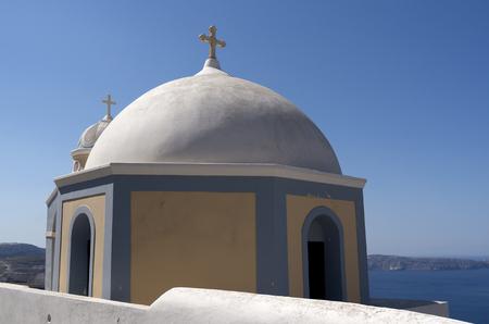 thira: Church in Thira on Santorini island in Greece