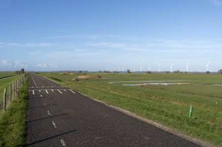 dikes: Pastures in The Netherlands by Spakenburg