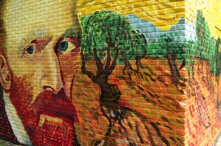 In Wassenaar, The Netherlands, is a power house brightened up with a graffiti drawing of Vincent van Gogh