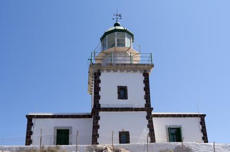 Faros lighthouse on the island of Santorini in Greece  Stock Photo