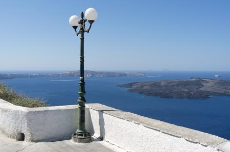 Boulevard Thira at Santorini island in Greece