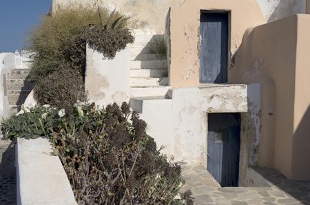 thira: Garden of the house in Thira on Santorini in Greece